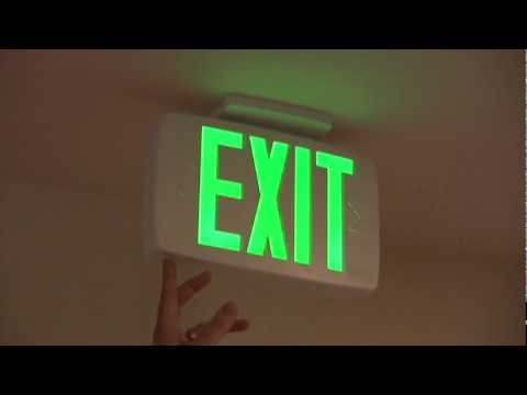 how to mount emergency lights and exit signs. Black Bedroom Furniture Sets. Home Design Ideas