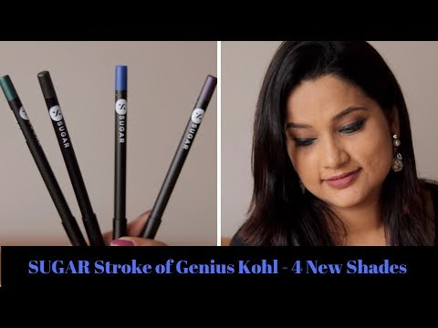 NEW Sugar Stoke Of Genius Heavy Duty Kohl Review Swatches with Demo | New 4 Festive Shades