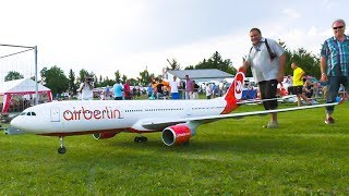 AMAZING RC MODEL AIRLINER AIRBUS A330 FLIGHT DEMO WITH CRASH!! *RC AIRPLANE*
