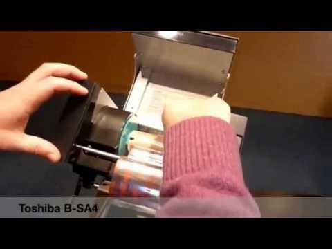 Toshiba  B-SA4 Ribbon Yerleştirme