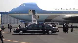 Air Force One Security U.S. President Obama two day visit to Mexico