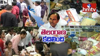 Telangana People Donates Food And Cloths to Kerala Flood Victims | hmtv