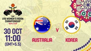 Австралия до 18 (Ж) : Республика Корея до 18 (Ж)