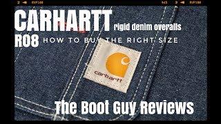 Carhartt R08 Rigid Denim Overall The Boot Guy Reviews