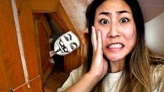 EXPLORING SECRET HIDDEN ROOM AT 3AM!! (HAUNTED)