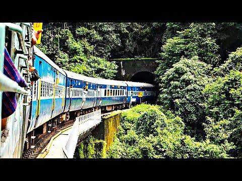 Bangalore Mangalore day train in the dangerous Shiradi Ghats