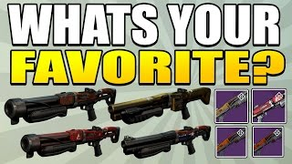 Destiny : What Is Your Favorite Shotgun? Party Crasher? Matador 64? Felwinters Lie? Etc!