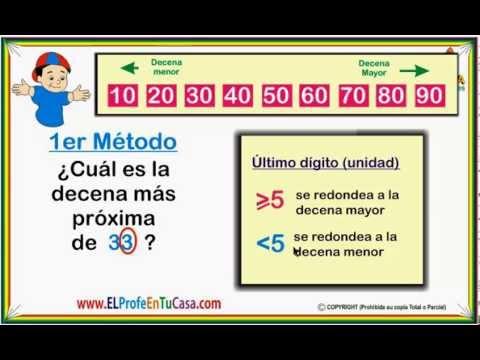 Aproximación decena - Clases de Matemáticas - El Profe En Tu Casa .com