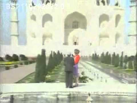 Princess Diana at the Taj Mahal in India