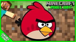 MINECRAFT PIXEL ART | RED BIRD From ANGRY BIRDS | Juniors Toons | #AngryBirdsMovie