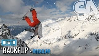 How to Wildcat (Back Flip) On A Snowboard (Regular)