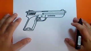 Download video Como dibujar una pistola paso a paso | How to draw a gun