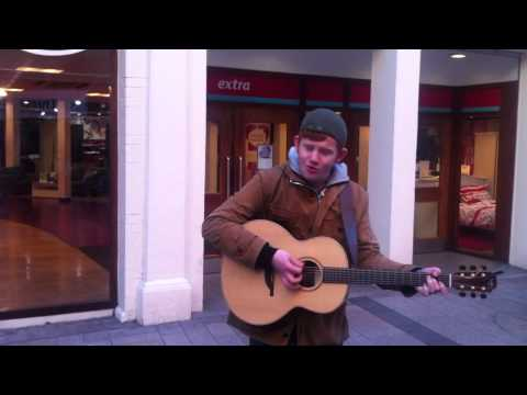 Belfast Buskers: Conor Scott performs near Victoria Square