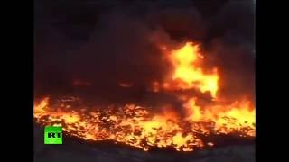 Iraq oil field set on fire by ISIS almost a month ago is still burning