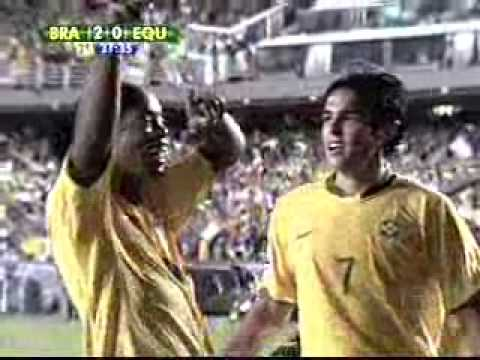 Brasil 5 x 0 Equador -- Eliminatórias Mundial 2010