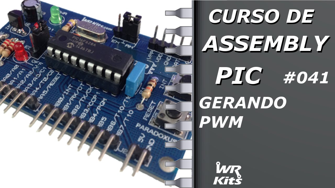 pwm with pic 16f84 Pic programming in assembly ( ) tutorial 1 the figure below shows the register file map inside the pic16f84.