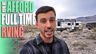 How We Afford Full Time RVing & Traveling - Funding Life On The Road