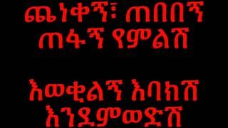 Dawit Tsige Betam New Yemwedsh - Lyrics (Ethiopian music)