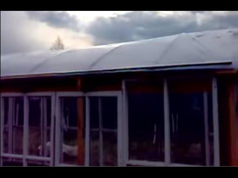 Теплица - часть 2.  Крыша и почва.