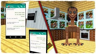 I SPEAKED WITH MOMO FOR WHATSAPP IN MINECRAFT AND IT APPEARED IN OUR HOUSE!