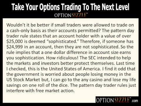 Pattern day trading rule for options