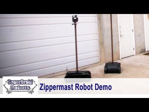 SupderDroid LT Treaded Robot with 8 Foot Lift