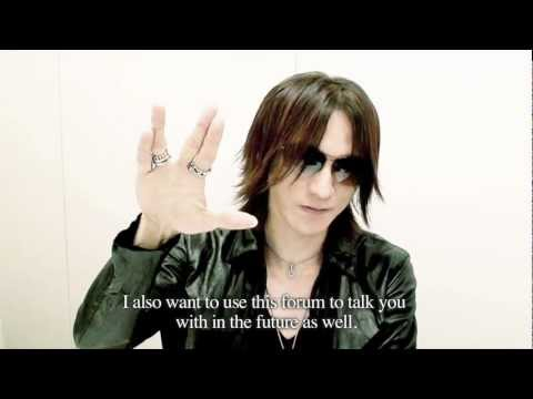 SUGIZO / Message from SGZ Vol.2 2012/08/30 (English)