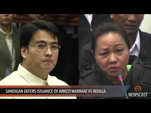Sandigan defers issuance of arrest warrant vs Revilla