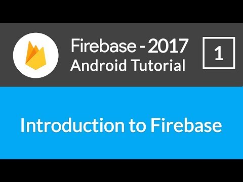 Android Studio Firebase Backend Tutorial #1 - Introduction To Firebase Service