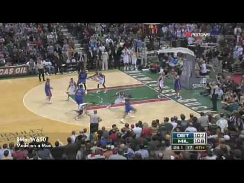 Pistons vs Bucks 02-07-2009 Highlights