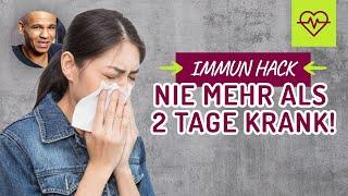🤒🤢 Immun HACK❗️ Nie mehr als 2 Tage krank❗️Immunsystem stärken💊👨🏽⚕️