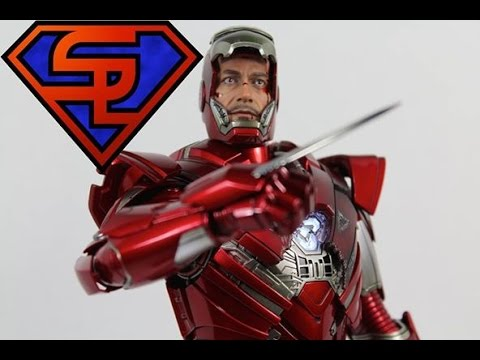 Iron Man 3 Hot Toys Mark XXXIII Silver Centurion Movie Masterpiece 1/6 Scale Figure Review