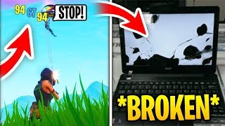 My BESTFRIEND *DESTROYED* His PC After I Beat Him In 1v1.. (Fortnite)