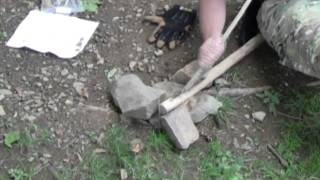 How to make a Fire Plow Friction Fire for wilderness survival, Equip 2 Endure