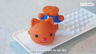 Sago Mini Easy Clean Bath Squirters: Cleaning Instructions