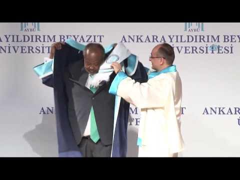 Cibuti Cumhurbaşkanı İsmail Omar Guelleh'e Fahri Doktora Ünvanı