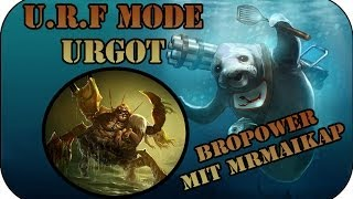 Ultra Rapid Fire Bropower mit Urgot | League of Legends Full U.R.F. Gameplay #55