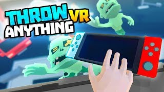 Download Lagu CRAZY MAN THROWS A SWITCH AT A ZOMBIE! - Throw Anything VR Gameplay - VR HTC Vive Gameplay Gratis STAFABAND
