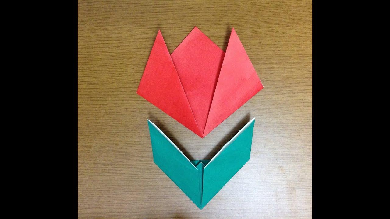 すべての折り紙 チューリップの折り紙 : チューリップ 折り紙 折り方 ...