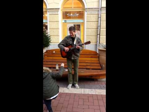 Avicii - Wake Me Up Street Music In Szeged (hungary) video
