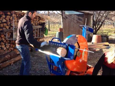 Sega circolare elettrica per legna da ardere