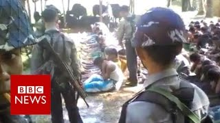 Myanmar police officers detained over Rohingya beatings video - BBC News