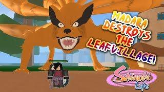 MADARA DESTROYS THE HIDDEN LEAF VILLAGE! - Shinobi Life OA