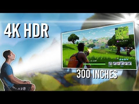 Gaming on a 4K HDR Projector is INSANE! - Viewsonic PX747