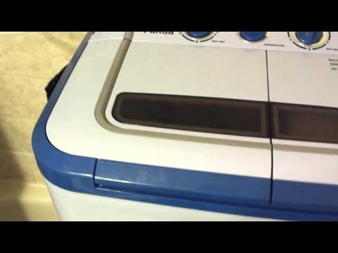 Demonstrating The Panda PAN30 Small Compact Portable Washing Machine Washing a Load of Shirts