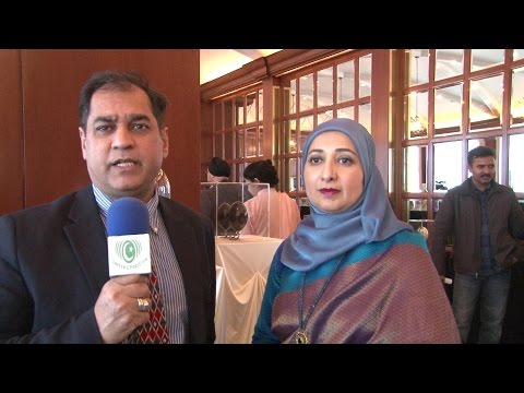 Farha Sayeed Egg Art Exhibition -GEO TV Safeer e Pakistan -Chicago-2016