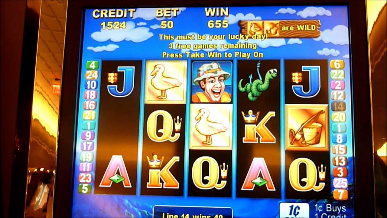 Let 39 s go fish 39 n slot machine bonus win queenslots youtube for Fish slot machine