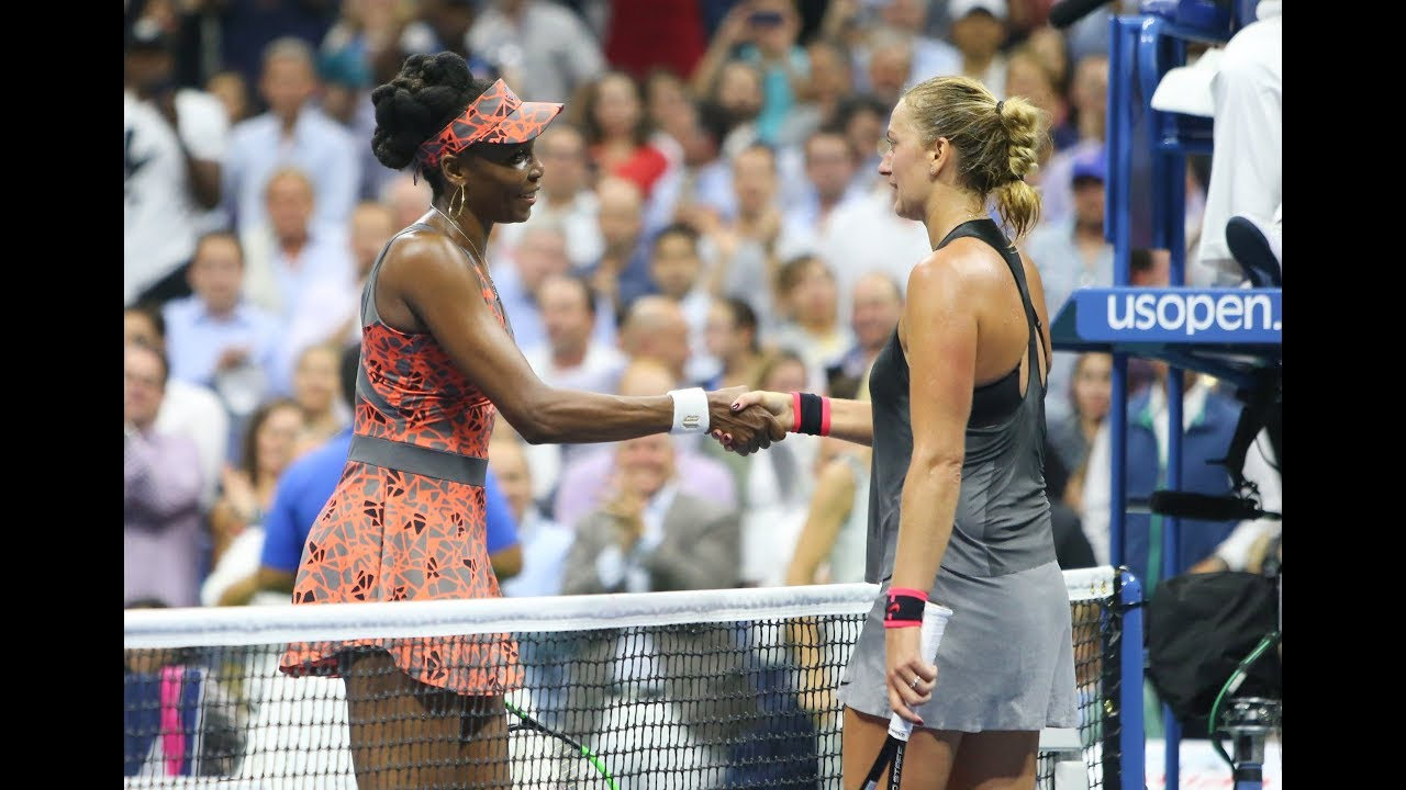 Venus Williams edges Kvitova for 1st US Open semifinal since 2010