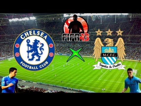 Fifa 13 - Chelsea x Manchester City - Melhores Momentos - 14-04-13