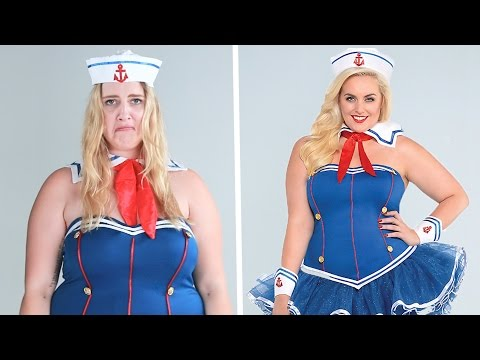 Plus-Size Women Try On One-Size Halloween Costumes